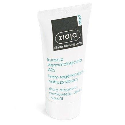 ZIAJA Med - Kuracja Dermatologiczna AZS - KREM regenerujący i natłuszczający, 50 ml.