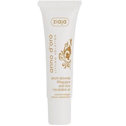 Ziaja - Anno d'oro - SERUM liftingujące, przeciwzmarszczkowe pod oczy i okolice ust, 30 ml.