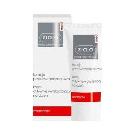 Ziaja MED - Kuracja przeciwzmarszczkowa - KREM aktywnie wygładzający na DZIEŃ, 50 ml.