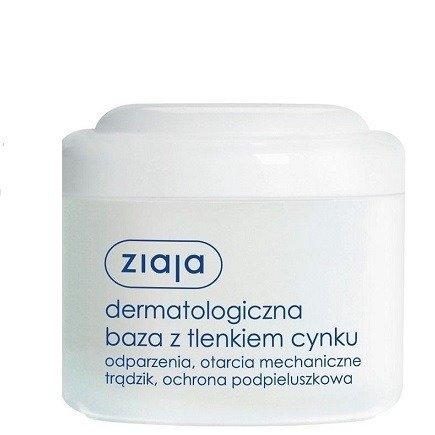 Ziaja - Pielęgnacja podstawowa - Dermatologiczna baza z tlenkiem cynku na odparzenia, otarcia i trądzik od pierwszych dni życia, 80 g.